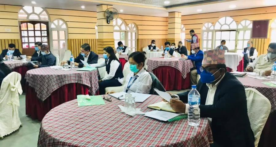 Photos of Cabinet proposal writing training organized by PCGG, Bagmati